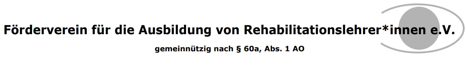 Förderverein für die Ausbildung von Rehabilitationslehrer*innen e.V.